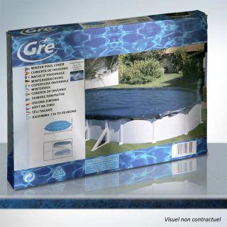 Bâche hivernage piscine ovale 610x375 ou huit 500   Achat / Vente