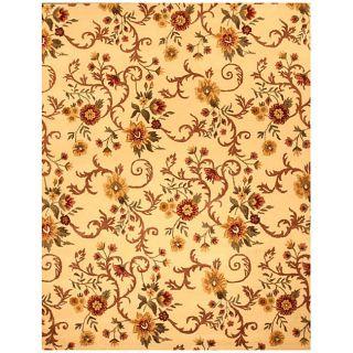 Hand tufted Daisy Print Wool Rug (79 x 99)