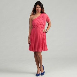 Miss Sixty Womens Pink One shoulder Pleated Dress FINAL SALE