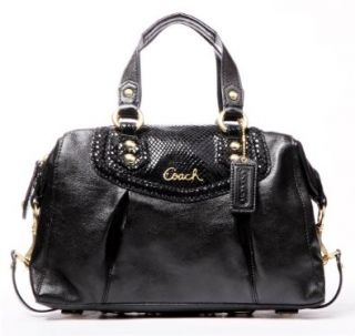 Coach Ashley Black Leather Satchel 19247 Shoes