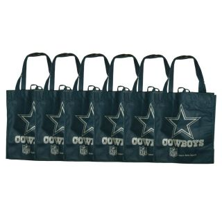 Dallas Cowboys Reusable Bags (Pack of 6)