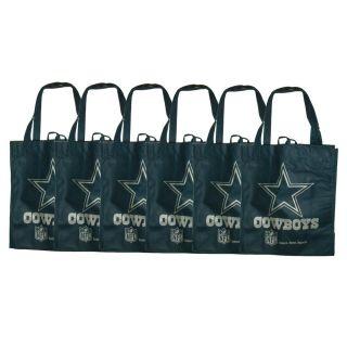 Dallas Cowboys Reusable Bags (Pack of 6)