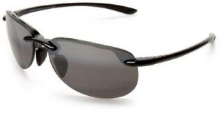 Jim Hapuna Sunglasses   Gloss Black/ Neutral Grey Maui Jim Shoes