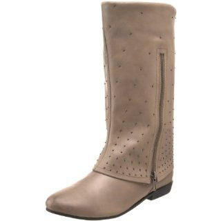 Messeca Womens Linda Cuffed Boot, Mushroom Leather, 8.5 M US Shoes