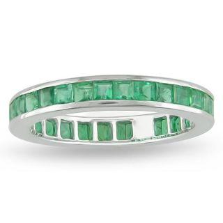 14k White Gold Emerald Full Eternity Ring