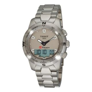 Tissot Mens T Touch II Silver Dial Multi Function Watch