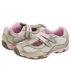 Stride Rite Milena T Strap (Toddler) Pewter/Ballerina Leather/Mesh