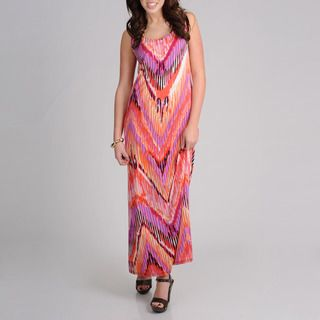 AnnaLee + Hope Womens Aztec Printed Maxi Dress