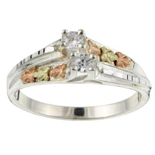 Sterling Silver and Black Hills Gold Cubic Zirconia Ring Today $64.99