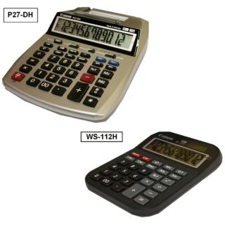 Canon 2 color Mini Desktop Printing Calculator and Desktop Calculator