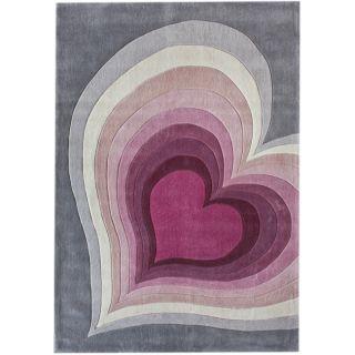 Handmade Luna Deco Kids Multi Heart Rug (76 x 96)