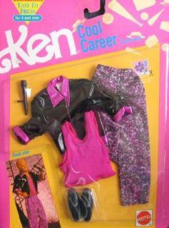 Barbie KEN Cool Career Fashions ROCK STAR   Easy To Dress