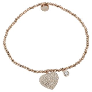 Tressa Childrens Rose Gold plated Silver Cubic Zirconia Bracelet
