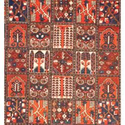 Persian Hand knotted Bakhtiari Red/ Orange Wool Rug (910 x 123
