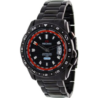 Precimax Mens World Traveler Automatic Steel Watch