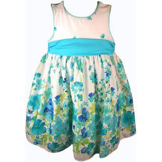 Good Lad Girls Blue White Floral Print Dress Price $26.50   $28.49