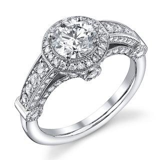 14k White Gold 1 2/5ct TDW Diamond Engagement Ring (I J, SI2
