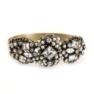 Sweet Romance Pearl and Crystal Garden Bracelet