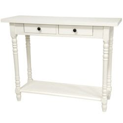 Wood 29 inch Classic 2 Drawer Foyer Table (China)