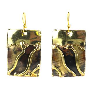 Handcrafted Waves Brass Earrings (South Africa)