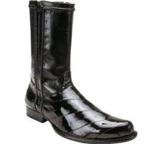Belvedere Mens Fino Boos,Black Eel/Calf,9 M US Shoes