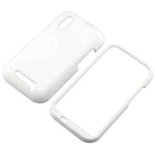 White Snap on Rubber Coated Case for Motorola Droid Bionic XT865