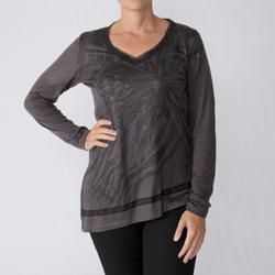 California Bloom Womens Long Sleeve Graphic V Neck Top Today $23.99