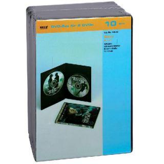 709.12 B, noir, paquet de 10   Slim DVD double dure boxe, BECO 709