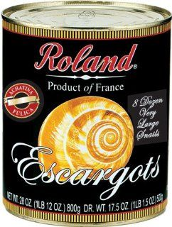 Roland Snails, Extra Large (72 Count) From France, 28 Ounce Cans (Pack