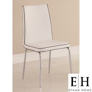 ETHAN HOME Matilda White Retro Modern Dining Chair (Set of 2