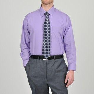 Alexander Julian Colours Mens Purple Heart Dress Shirt and Neat Tie
