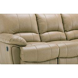 Oakley Tan Reclining Leather Sofa and Two Reclining Chairs