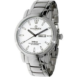 Haurex Italy Inteus Mens Silver Dial Steel Watch Model # 2A276UW1
