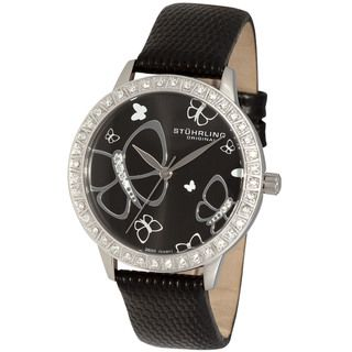 Stuhrling Original Womens Fantasia Stainless Steel Case Crystal Watch