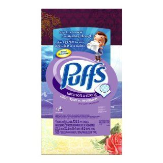 Puffs Ultra Soft & Strong Facial Tissues, 132 Count Box