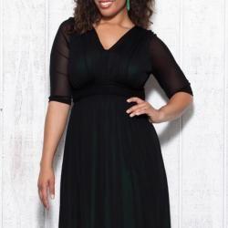 Kiyonna Womens Plus Avery Mesh Dress