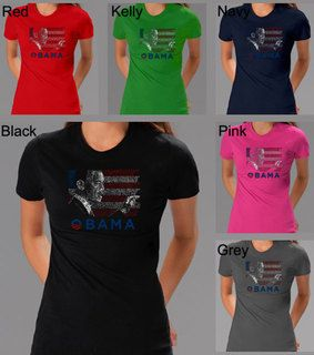 Los Angeles Pop Art Womens Barack Obama Short Sleeve T Shirt