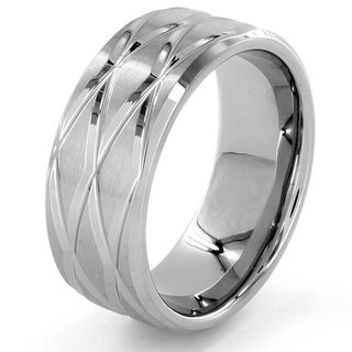 Stainless Steel Diamond shaped Groove Ring