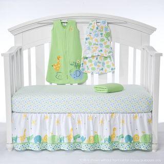 Halo SleepSack Serengeti Green 5 piece Bumper free Crib Bedding Set