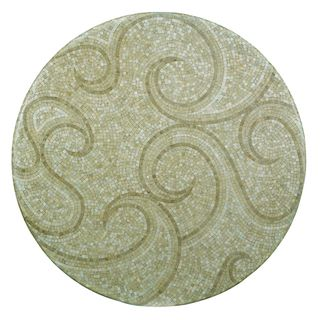 Outdoor Waves 24 inch Round Mosaic Table Top