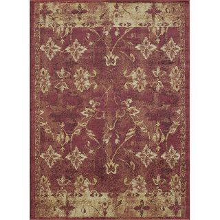 Emotions Red/ Multi Floral Rug (98 x 128)