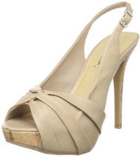 Wild Diva Womens Helena 01 Platform Sandal,Natural,5 M US: Shoes