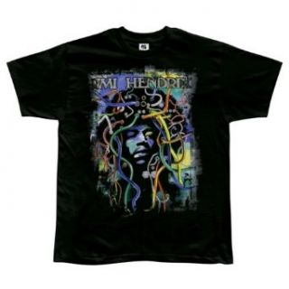 Jimi Hendrix   Psychedelic Plugs Soft T Shirt Clothing