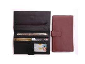 Top Stub Checkbook & Wallet by Paul & Taylor (Brown