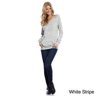 Elan Womens Long Sleeve Kangaroo Pocket Top