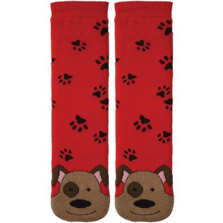 Tubular Novelty Socks Dog  Red W/Paw Prints Today $9.59