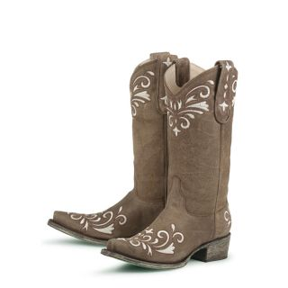 Lane Boots Manhattan Yuppie Womens Ivory Cowboy Boots