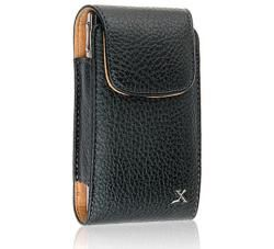 Premium Pantech Crux Leather Vertical Case with Car Charger