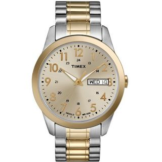 Timex Mens T2M935 Elevated Classics Dress Stainless Steel Expansion