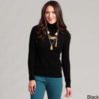 Cullen Womens Cashmere Turtleneck Sweater